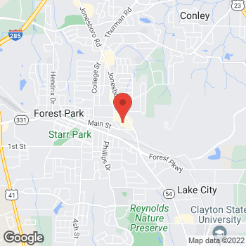 Map of Citi Trends at 4911 Jonesboro Road, Forest Park, GA 30297