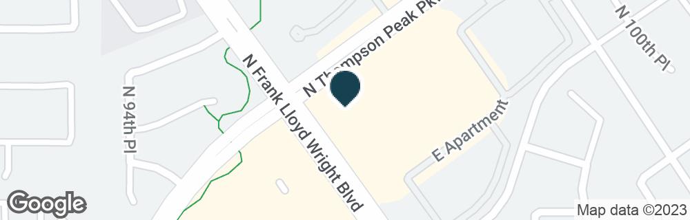 Google Map of15025 N THOMPSON PEAK PKWY