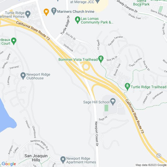 Map of Newport Coast Off