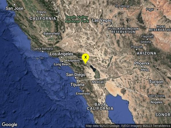 earthquake 11km WSW of La Quinta, CA