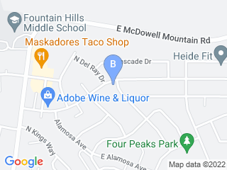 Map of Dog Walk Pro Dog Boarding options in Fountain Hills | Boarding