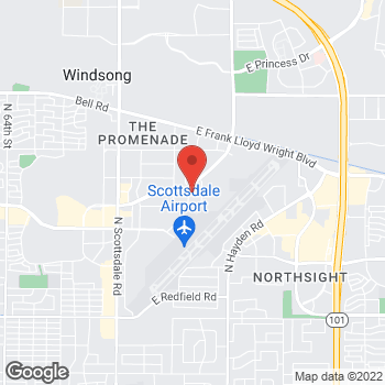 Map of Mighty Auto Parts at 15589 North 77th Street, Scottsdale, AZ 85260