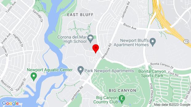 Google Map of 2046 Mar Vista Dr, Newport Beach, CA 92660