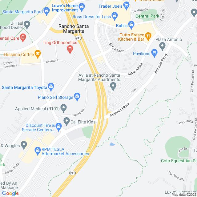 Map of Antonio Parkway Off