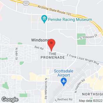 Map of Sprint at 7325 E Frank Lloyd Wright Blvd, Scottsdale, AZ 85260