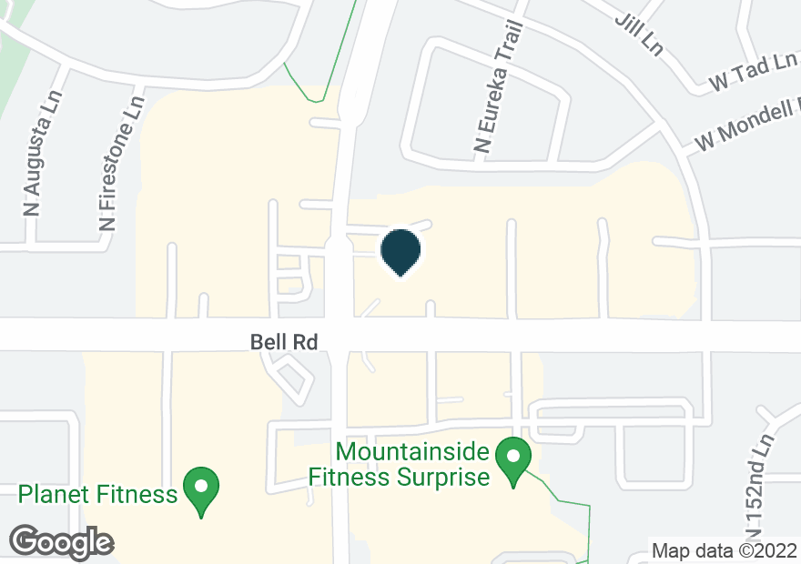 Google Map of15490 W BELL RD