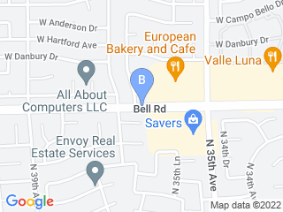 Map of Villa La PAWS on Bell Rd Dog Boarding options in Glendale | Boarding