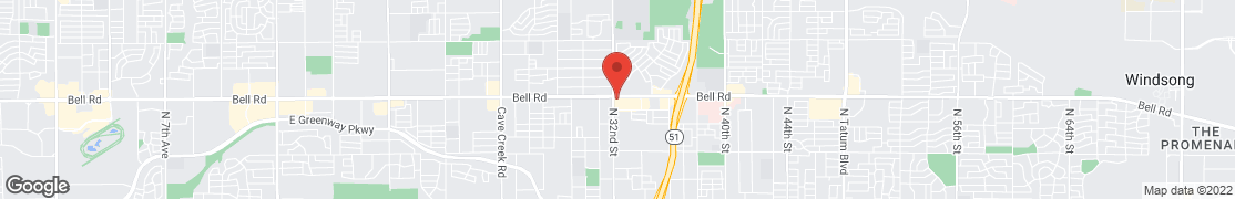 Map of 3205 E Bell Rd in Phoenix