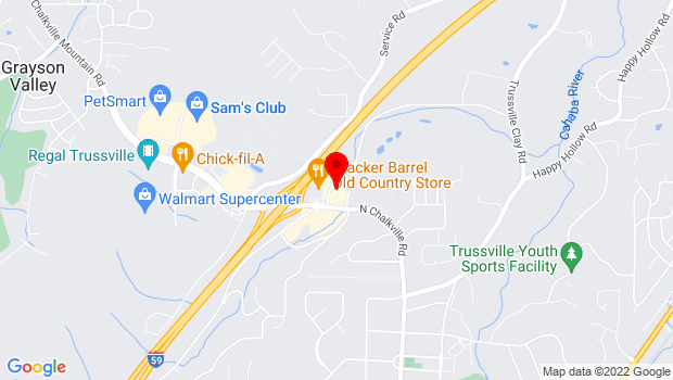 Google Map of 4711 Norrell Drive, Trussville, AL 35173