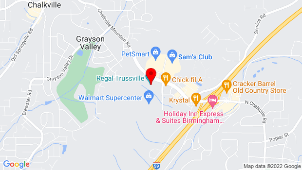 Google Map of 5895 Trussville Crossings Pkwy, Trussville, AL 35235