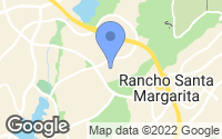 Map of Rancho Santa Margarita, CA