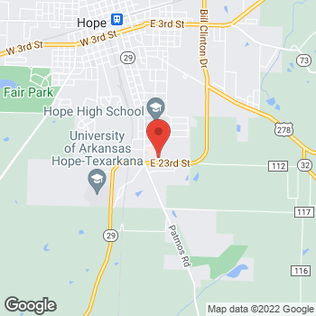 Map of Family Medicine Specialist at 302 Bill Clinton Drive, Hope, AR 71801