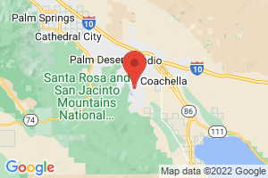 Map of Palm Springs and Coachella Valley Area