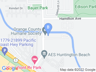 Map of Bark City  Dog Boarding options in Huntington Beach | Boarding