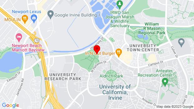 Google Map of 4000 Mesa Road, Irvine, CA 92697