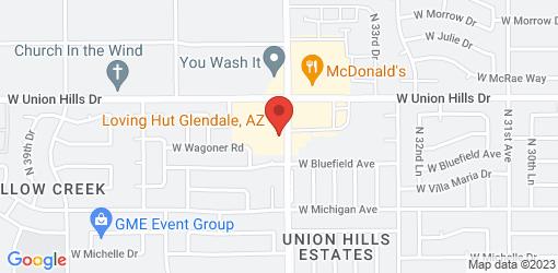 Directions to Loving Hut Glendale, AZ