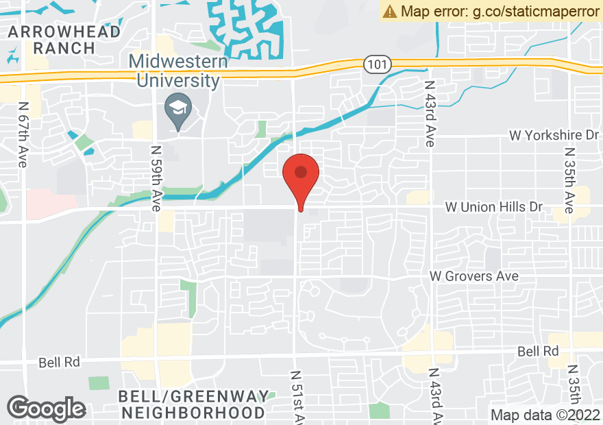 Google Map of 5011 W UNION HILLS DR