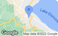 Map of Lake Elsinore, CA