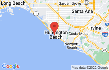 Map of Huntington Beach