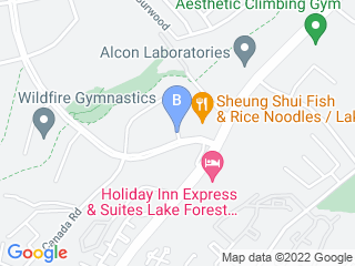 Map of Paws Pet Resort Dog Boarding options in Lake Forest | Boarding