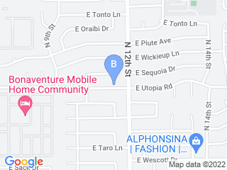 Map of Andys Furry Friends Dog Boarding options in Phoenix | Boarding