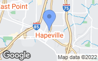 Map of Hapeville, GA