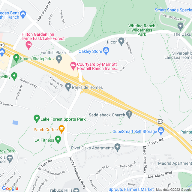 Map of Toll Road | SR-241 Portola Parkway S On