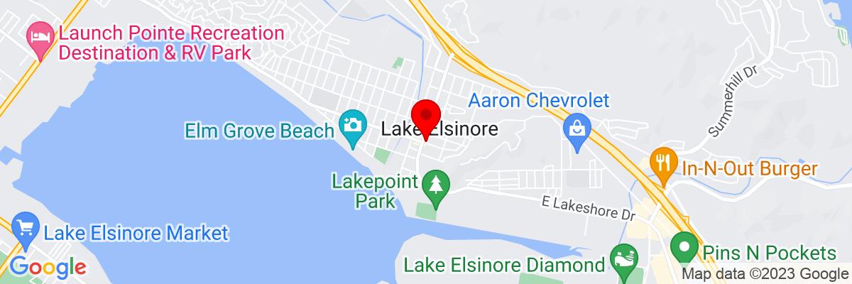 Google Map of 33.668077222222,-117.32726138889