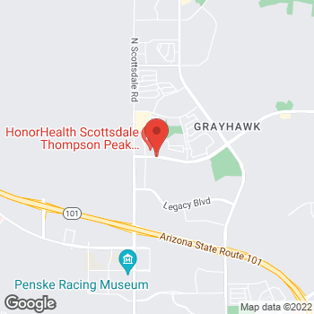 Map of Keri Wong, MD at 20201 N Scottsdale Healthcare Road, Scottsdale, AZ 85255