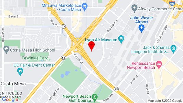 Google Map of 151 Kalmus Drive, Costa Mesa, CA 92626