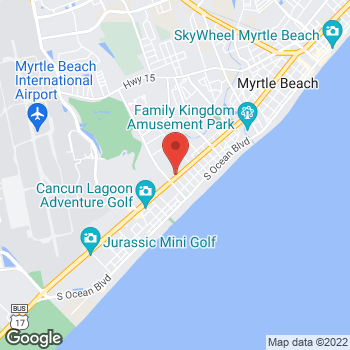 Map of Arby's at 1506 S Kings Hwy, Myrtle Beach, SC 29577