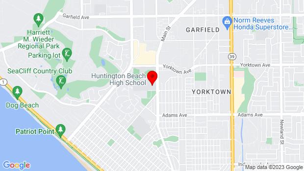 Google Map of 1905 Main St, Huntington Beach, CA 92648