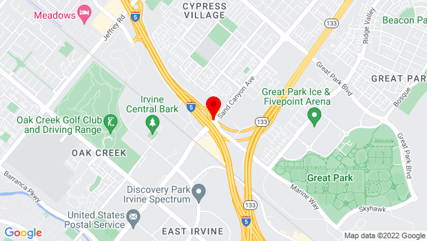 Google Map of Sand Canyon & Marine Way, Irvine, CA 92623