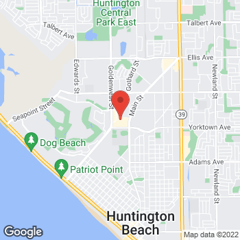 Map of Staples at 7131 Yorktown Ave., Huntington Beach, CA 92648
