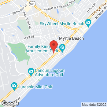 Map of Check `n Go Kings Highway at 612 S Kings Highway, Myrtle Beach, SC 29577