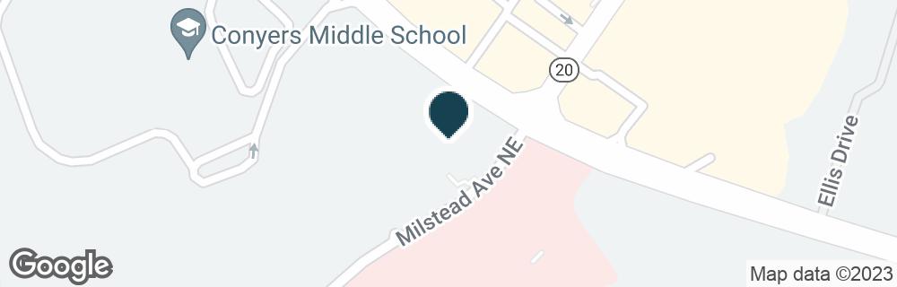 Google Map of1510 MILSTEAD AVE NE