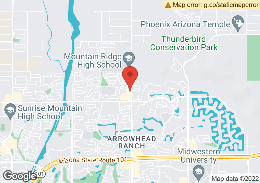Google Map of 22280 N 67TH AVE