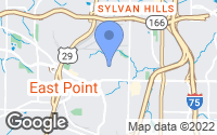 Map of East Point, GA