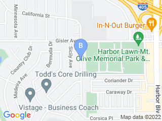 Map of Dogstar Pet Care Service Dog Boarding options in Costa Mesa | Boarding