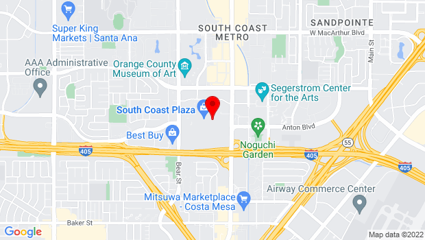 Google Map of 3333 Bristol Street, Costa Mesa, CA 92626