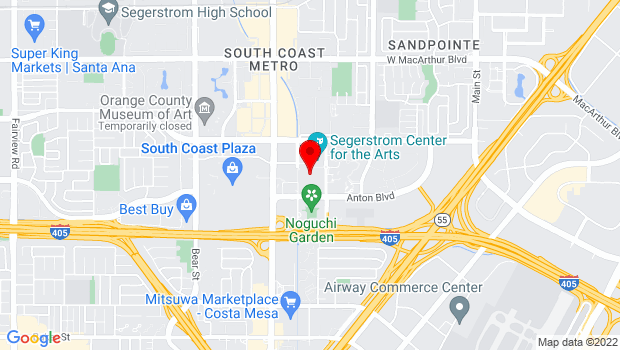 Google Map of 615 Town Center Drive, Costa Mesa, CA 92626