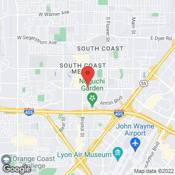 Map of Panera Bread at 3941 S. Bristol Street, Santa Ana, California 92704