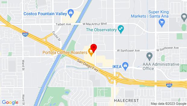 Google Map of 3321 Hyland Ave, Costa Mesa, CA 92614