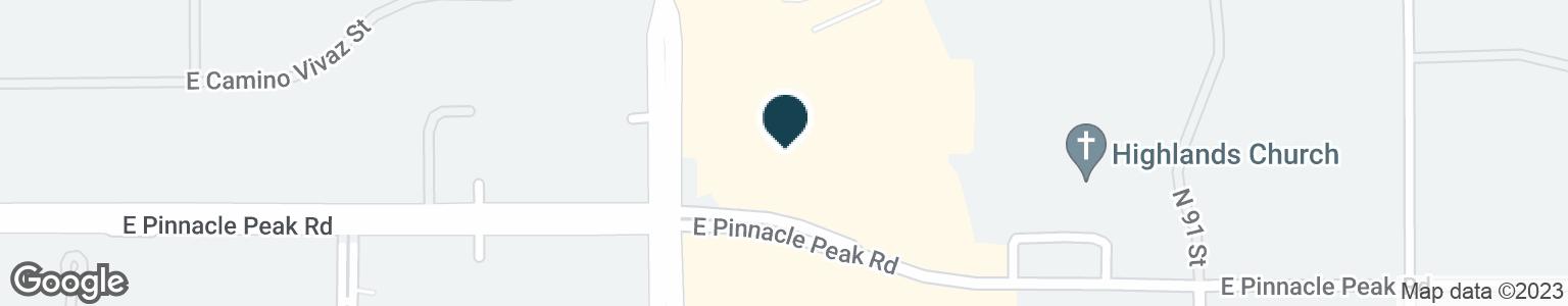 Google Map of8816 E PINNACLE PEAK RD