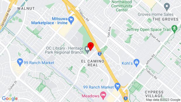 Google Map of 14321 Yale Avenue, Irvine, CA 92604