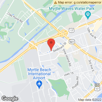 Map of Dr. Fouad Allouch, Optometrist, and Associates at 350 Seaboard St, Myrtle Beach, SC 29577