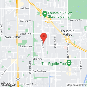 Map of Rite Aid at 17904 Magnolia Street, Fountain Valley, CA 92708