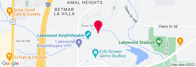 Map for Aaron's Amphitheatre at Lakewood