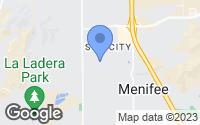 Map of Sun City, CA