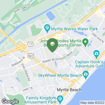 Map of Terminix at 1656 Plaza Pl, Myrtle Beach, SC 29577